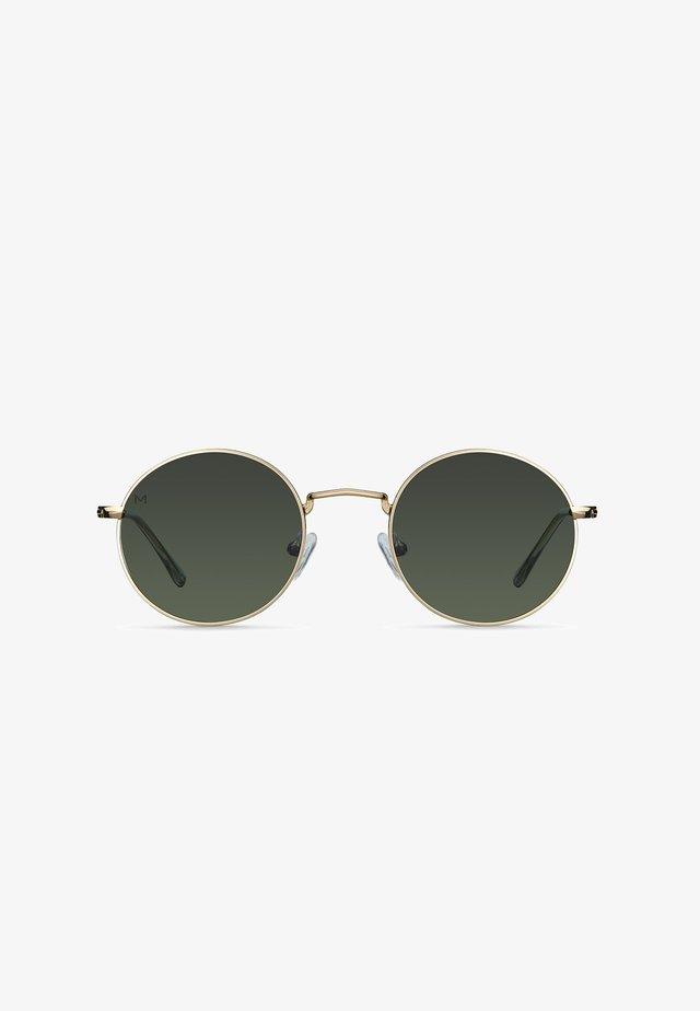 KENDI - Sunglasses - gold olive