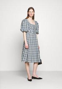 Alexa Chung - CORSET DRESS - Cocktailkleid/festliches Kleid - green/ pale blue - 1