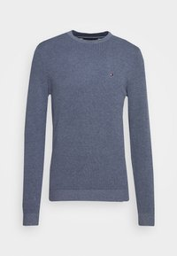 MOULINE STRUCTURE CREW NECK - Maglione - blue