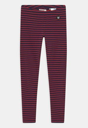 IRA UNISEX - Legging - navy/red