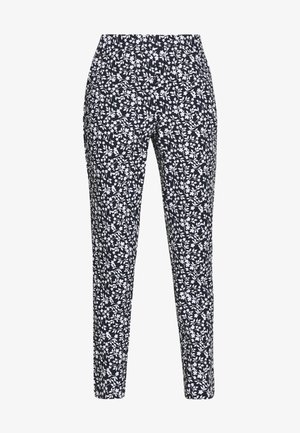 BASIC SLIM TROUSERS WITH JOGGER WAIST - Pantalones - blue