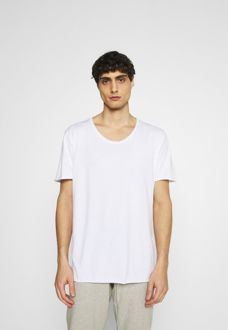 Selected Homme - SLHWYATT O NECK TEE  - T-shirt - bas - bright white
