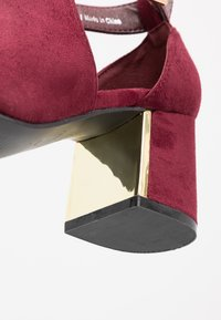 Simply Be - WIDE FIT DETAIL SHOE - Sandaler m/ skaft - burgundy - 2