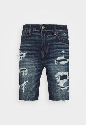 CUT OFF - Shorts vaqueros - dark wash