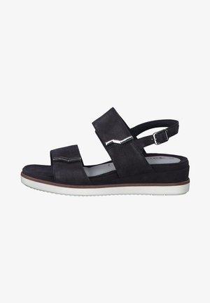 Wedge sandals - navy pearl sue