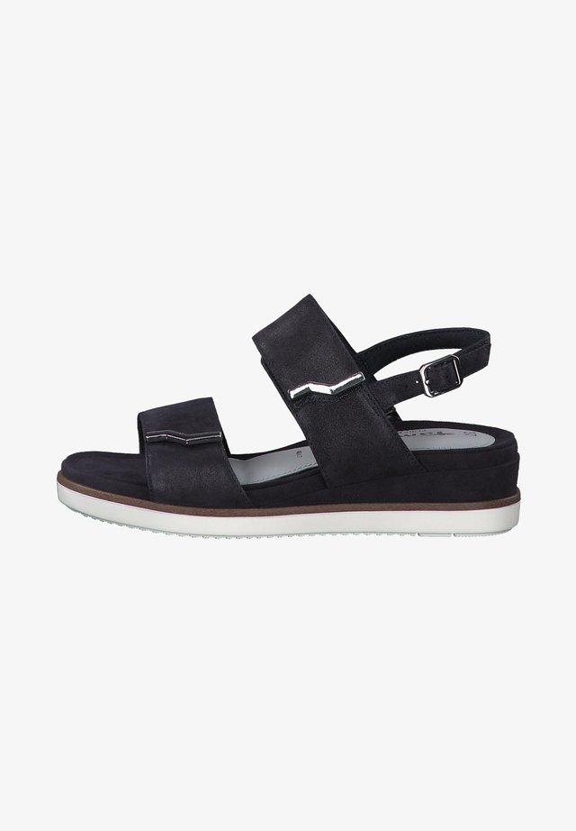 Sandales compensées - navy pearl sue