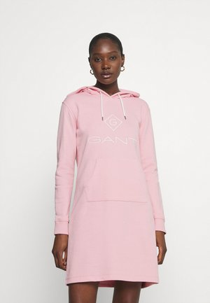 LOCK UP HOODIE DRESS - Day dress - preppy pink