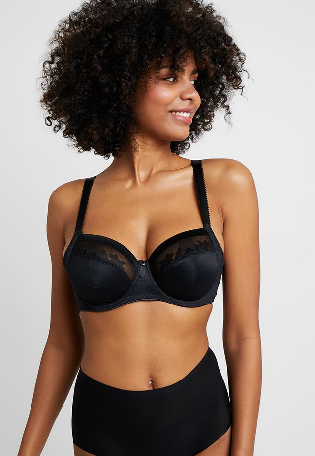 ILLUSION SIDE SUPPORT BRA - Beugel BH - black