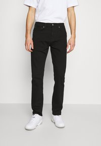 Edwin - TAPERED - Jeans Tapered Fit - black denim - 0