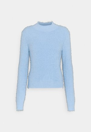 LASH FLUFFY JUMPER - Jumper - light blue