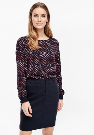LANGARM - Blouse - navy