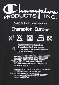 Champion Reverse Weave - CREWNECK LABELS - Print T-shirt - black - 6