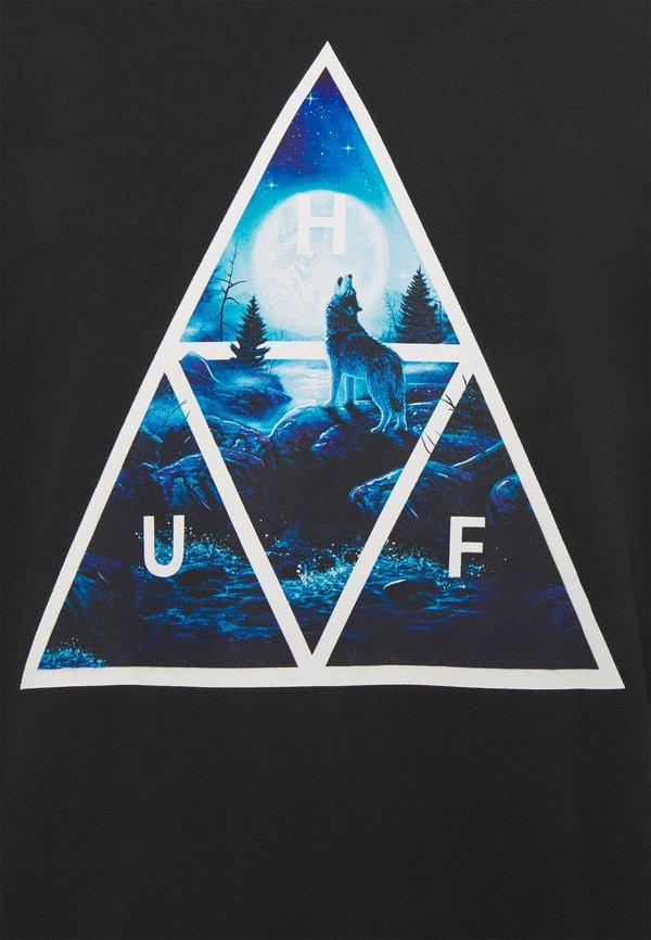 HUF LUPUS NOCTEM HOODIE - Bluza - black/czarny Odzież Męska BDCN