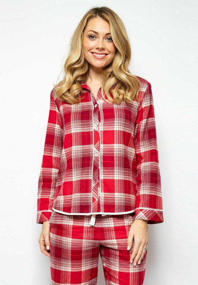 Nattøj trøjer - red chks