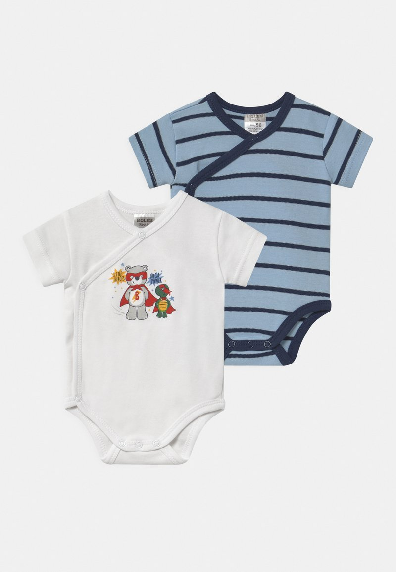 Jacky Baby - KURZARM BOYS 2 PACK - Body - blue/white
