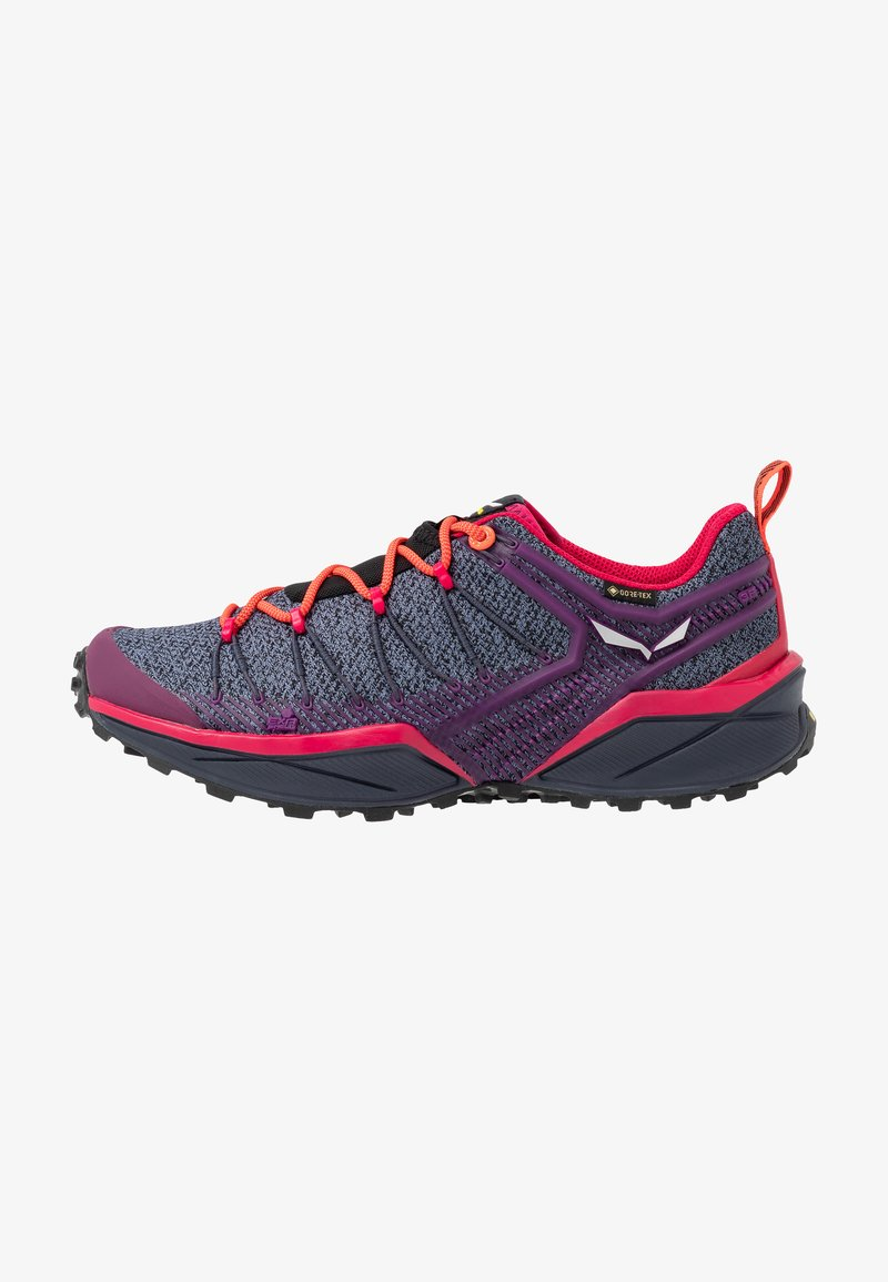 Salewa - DROPLINE GTX - Hiking shoes - ombre blue/virtual pink