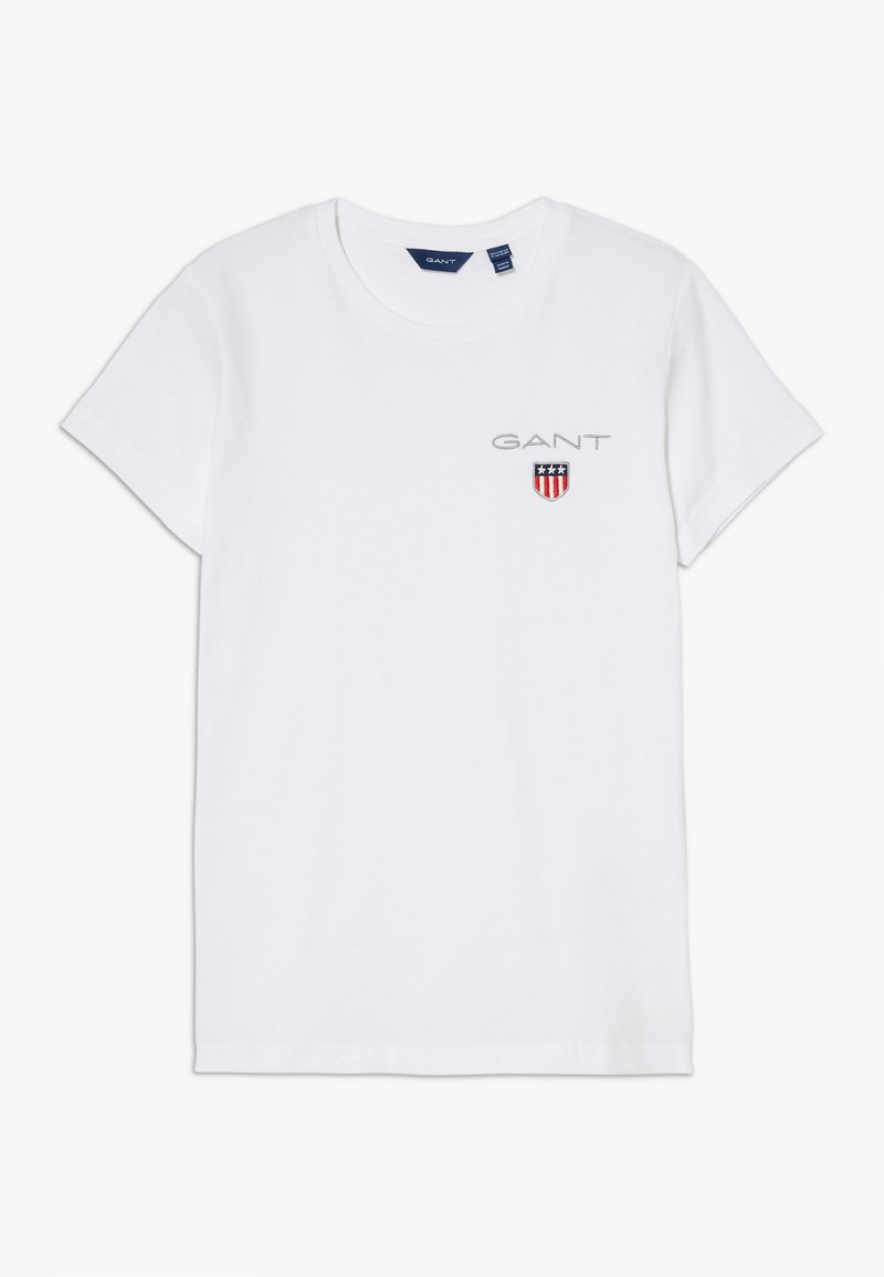 GANT - MEDIUM SHIELD  - Jednoduché triko - white