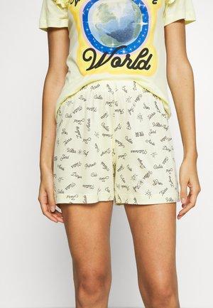 V & R DAMEN SHORTS - Pyjamahousut/-shortsit - honey yellow