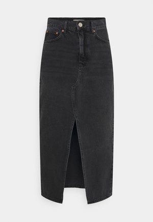 LONG SKIRT - Denim skirt - offblack
