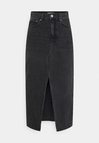 LONG SKIRT - Denim skirt - offblack