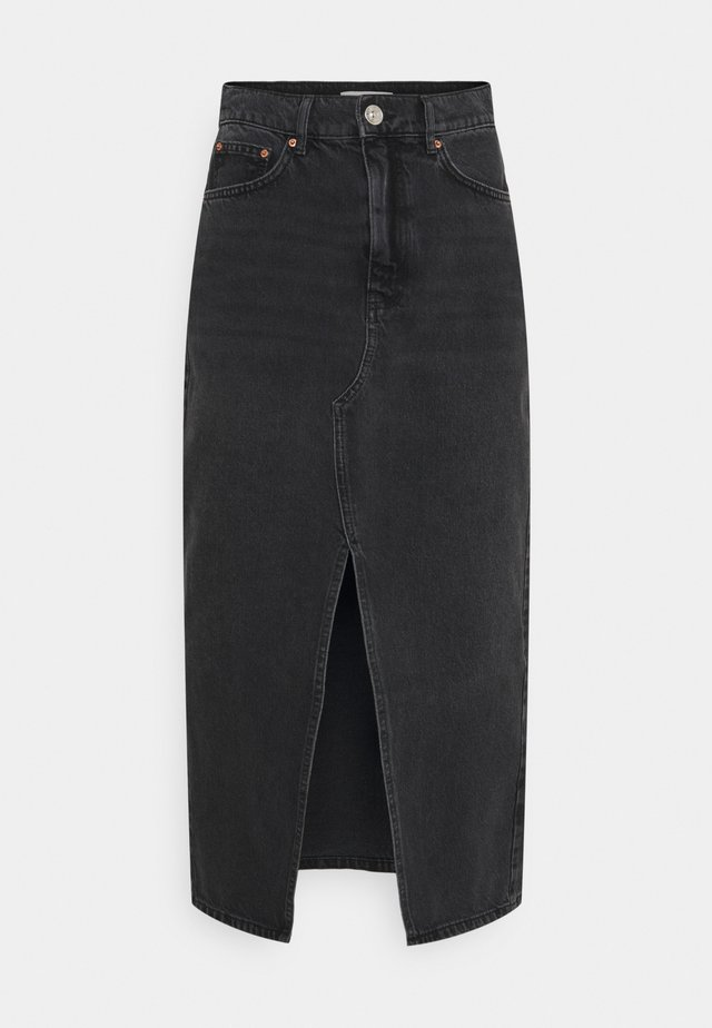 LONG SKIRT - Gonna di jeans - offblack