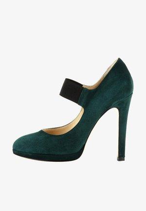 Zapatos altos - dark green