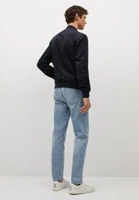 Mango - MIT WILDLEDER-EFFEKT - Faux leather jacket - dunkles marineblau - 2