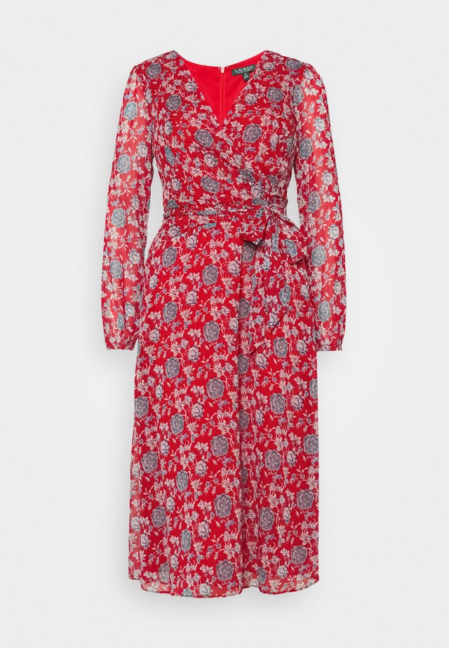 FRANNY - Day dress - red/blue
