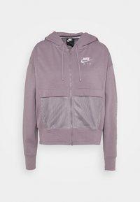 Zip-up hoodie - purple smoke/white