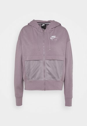Zip-up hoodie - purple smoke/white