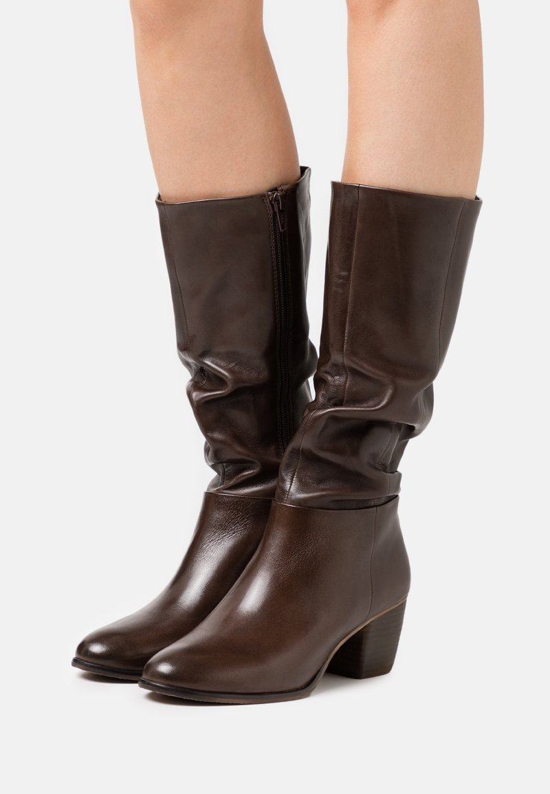 Steven New York - JOSIE - Vysoká obuv - dark brown