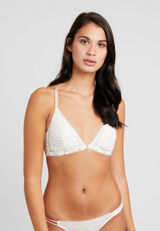TRENDY FIT FLORAL ASYMETRIC FASHION COLLECTION BRA - Triangel BH - white