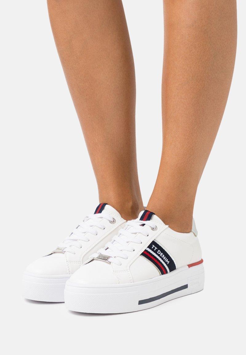 TOM TAILOR DENIM - Sneakers basse - white