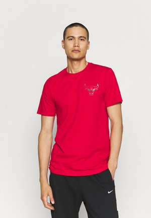 CHICAGO BULLS NBA FADE LOGO TEE - Klubbkläder - red