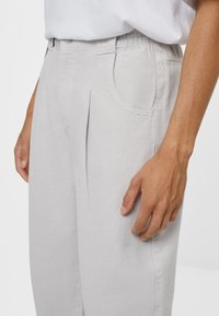 Bershka - Trousers - grey - 3