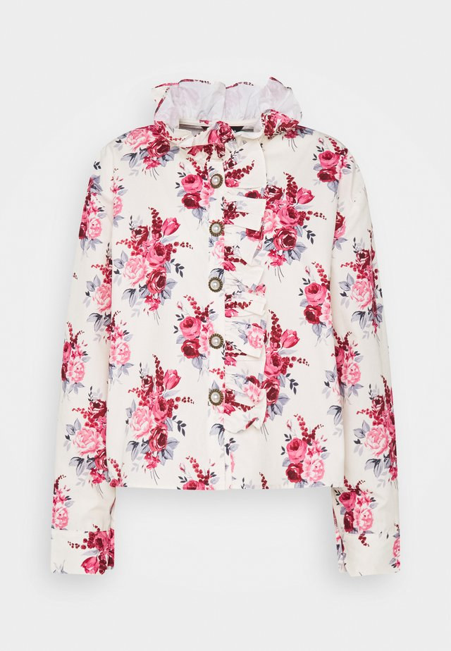 BETH FLORAL RUFFLE BLOUSE - Blouse - cream
