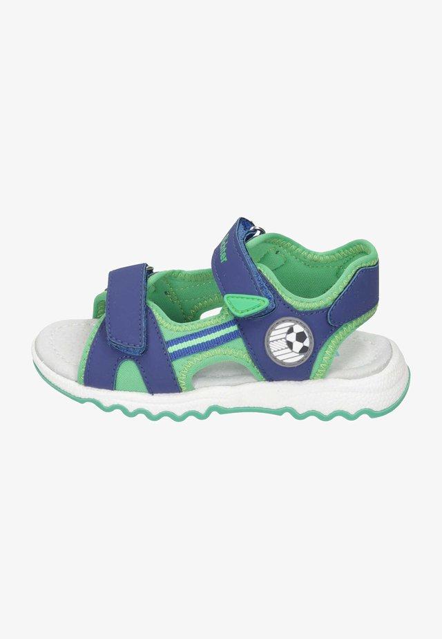 Walking sandals - mystery/grass