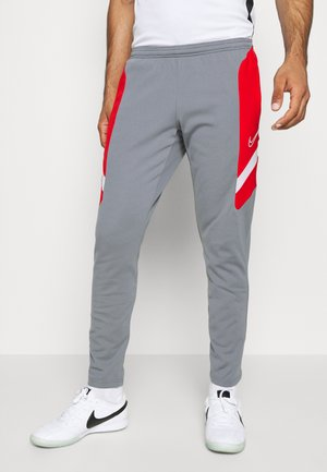 DRY ACADEMY PANT  - Tracksuit bottoms - smoke grey/university red/smoke grey