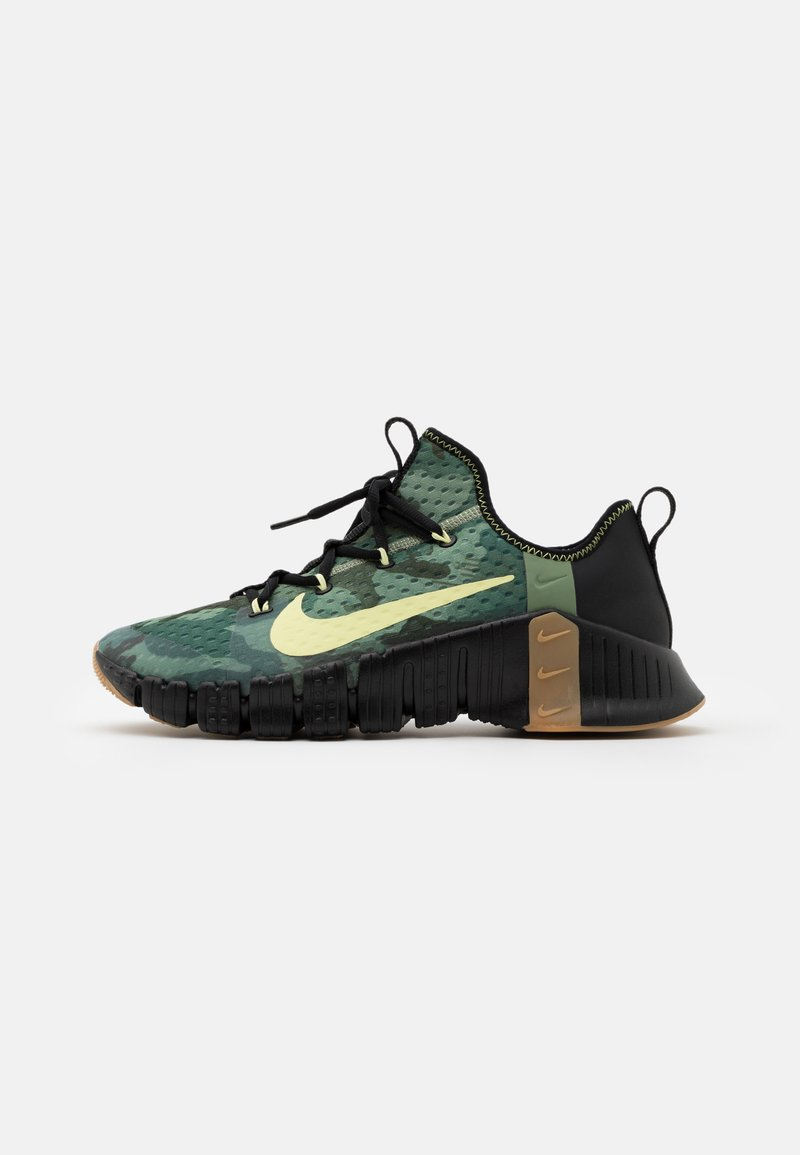 Nike Performance - FREE METCON 3 - Sports shoes - black/limelight/spiral sage
