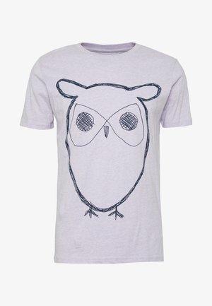 ALDER BIG OWL TEE - Print T-shirt - lavender melange