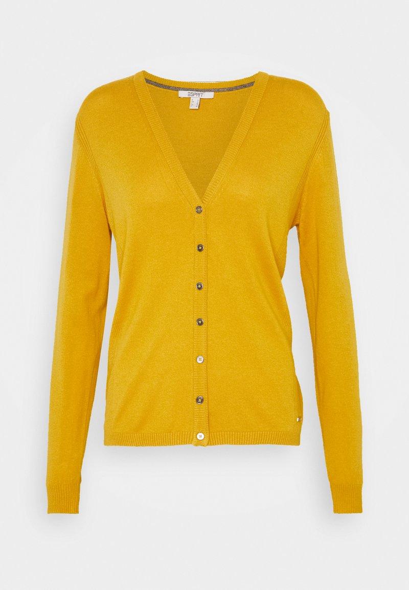 Esprit - BASIC  - Cardigan - brass yellow