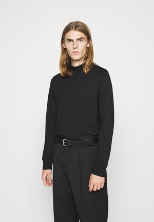 MARLON MOCK NECK LONGSLEEVE - Long sleeved top - black