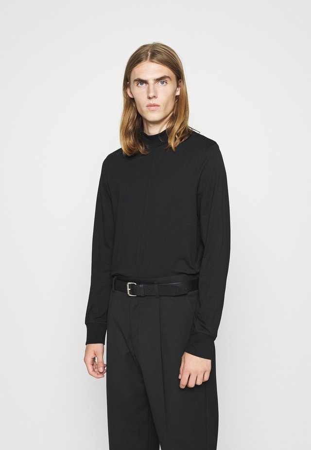 MARLON MOCK NECK LONGSLEEVE - T-shirt à manches longues - black