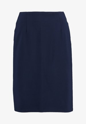 PONTE SKIRT  - Pencil skirt - dark blue