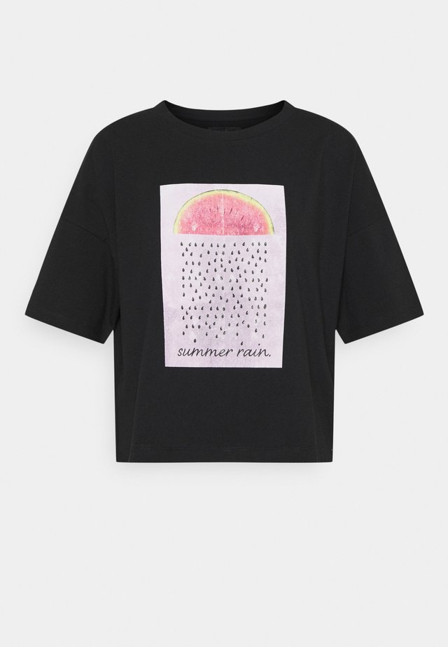 NMAMY  - T-shirt con stampa - black