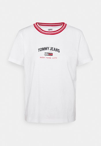 REGULAR TIMELESS SCRIPT TEE - T-shirts med print - white