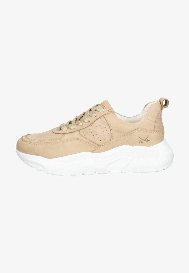 Sneakersy niskie - beige kombiniert