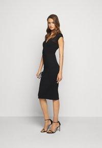 Hervé Léger - V NECK DRESS - Shift dress - black - 1