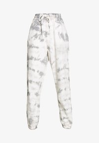 Missguided - TIE DYE  - Tracksuit bottoms - cream - 4