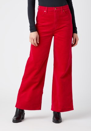 WORLD WIDE - Trousers - cerise